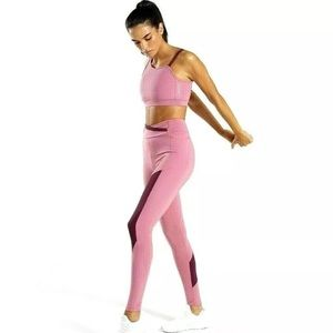 Gymshark Pink Asymmetric Fitted Leggings XS NEW